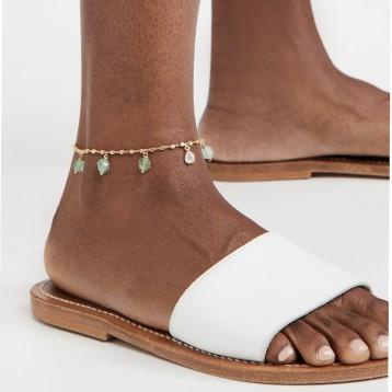 希腊小众时尚品牌:Ancient Greek Sandals 玉石脚踝链