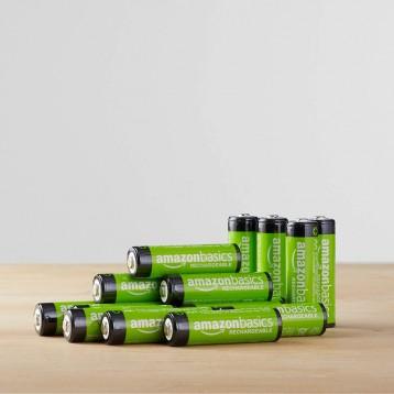 可充电电池:AmazonBasics 亚马逊倍思 AA 型(5号) 镍氢预充电池2000mAh*16节