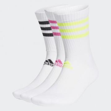 中性款:adidas 3S CSH CRW3P 运动袜子3双(两组配色)