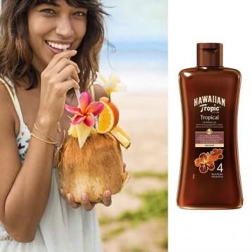 安全晒出阳光肤色:Hawaiian Tropic 夏威夷热带 SPF4 美黑防晒鞣制油 200ml
