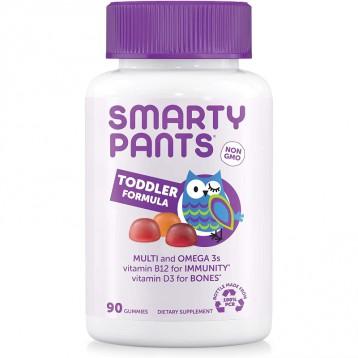不怕挑食宝宝【2-3岁配方】SmartyPants Complete幼儿每日维生素软糖 90粒