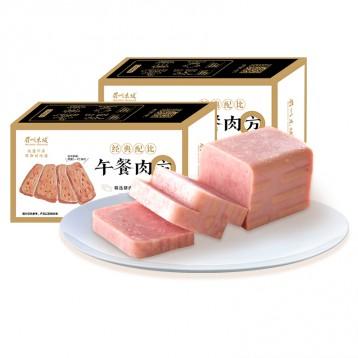 眉州东坡酒楼同款:午餐肉320g*2盒(原味/黑椒/鸡肉)