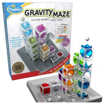 空间认知和逻辑推理玩具【科学玩具】Think Fun 重力迷宫弹珠 STEM Toy(8+岁)