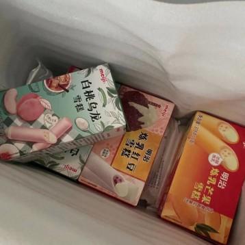 帶雪蓋的奶茶雪糕【邊吃邊曬】明治 meiji 白桃烏龍冰淇淋