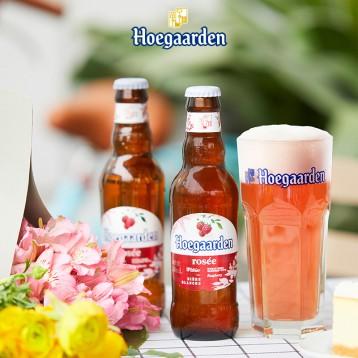 覆盆子玫瑰啤:Hoegaarden福佳 玫瑰红啤酒248ml*6瓶