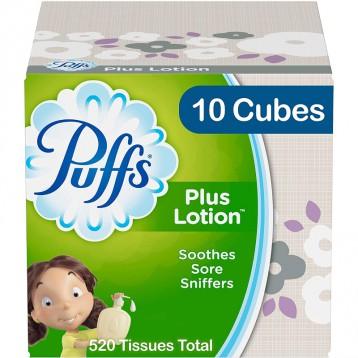 含乳液的湿面巾纸:Puffs Plus 乳液面巾纸52张*10盒