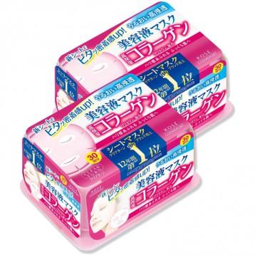 胶原蛋白粉盒【抽取式面膜】KOSE 高丝 Clear Turn精华面膜30片×2包 + 赠品