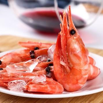 丹麥熟凍冰甜蝦【新貨腹籽·已核酸】豪鮮品北極蝦2.25kg (90-120只/kg)