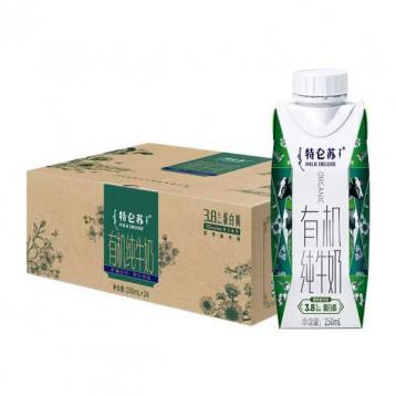 有机梦幻盖:蒙牛特仑苏 有机纯牛奶 250ml*24包箱装