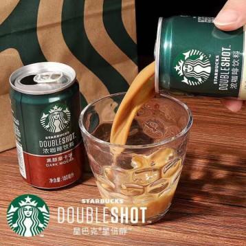 即饮罐装咖啡:星巴克 Starbucks 咖啡拿铁饮料罐装180ml*7罐装+送1罐