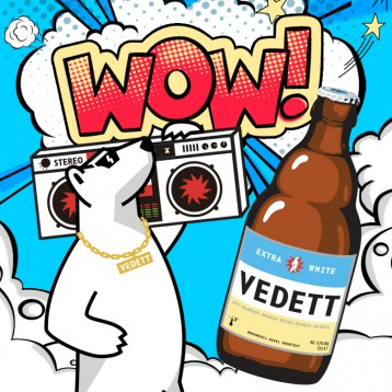 比利时精酿啤酒【酒吧新宠】原装进口 VEDETT白熊啤酒 330ml*6瓶