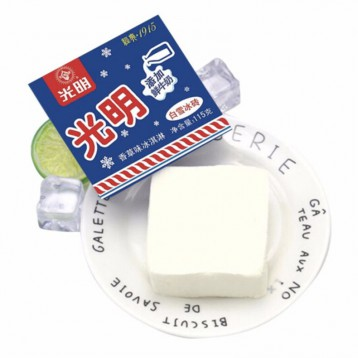 配冰咖啡超贊【99元選4件】光明 白雪冰磚香草味冰淇淋 115g*8盒