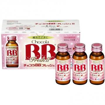 海淘好价【女性抗疲劳】Chocola BB Fresh 维生素B群口服液 低卡蜜桃口味 50ml×10瓶