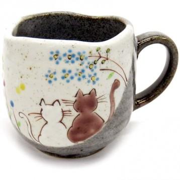 日本皇室用品【九谷烧】Kutani Yaki  手工烧制咖啡杯 阳光明媚的地方