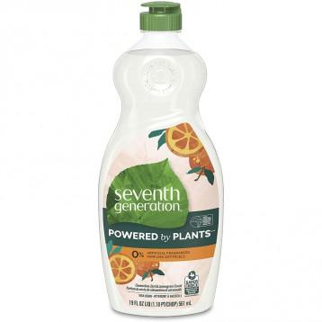 好莱坞明星钟爱品牌【有机纯植物】Seventh Generation七世代 薄荷柠檬香 纯天然有机洗洁精561ml*6瓶