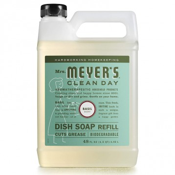 纯植物配方【大桶补充装】Mrs. Meyer's 梅耶夫人 碗碟洗洁精 罗勒香1.42升