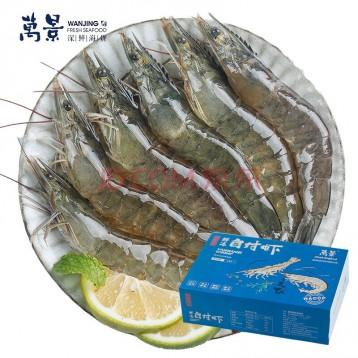 可只只分離【廣西北海·鹽凍白蝦】萬景 國產凍白蝦 凈重4斤(100-120只)