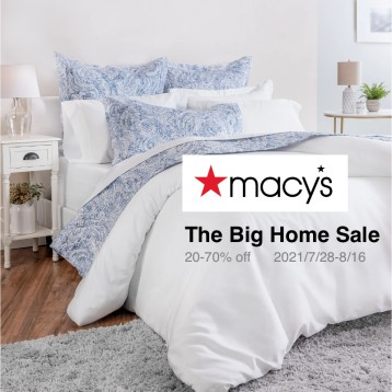Macy's 梅西百貨【海淘3折起】The Big Home Sale 家具床墊地毯低至4折