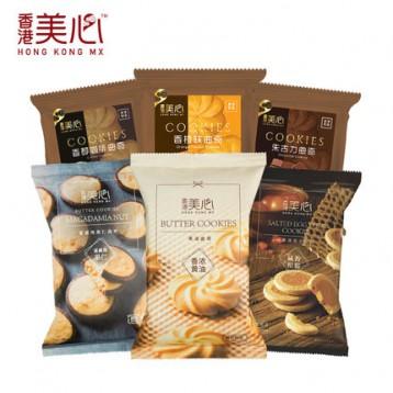 香港美心 果仁酥/甜心酥/曲奇糕點餅干散裝 366g(6口味6包)