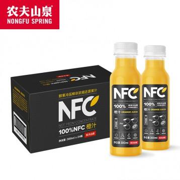 【第二件0元】农夫山泉 NFC苹果香蕉汁 300ml*24瓶