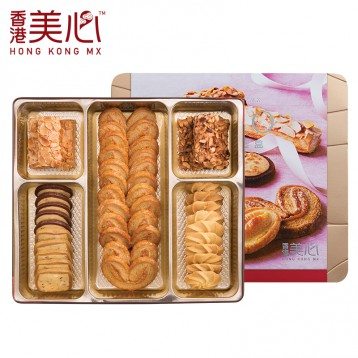 中國香港美心【大盒裝】三重奏曲奇酥餅干禮盒331g