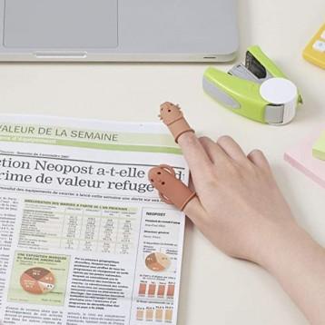 海淘【紙質文件翻閱神器】Lion Jimuki 硅膠防滑手指套 2個裝