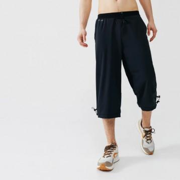 宽松薄款:迪卡侬 男士透气快干3/4长裤 黑色