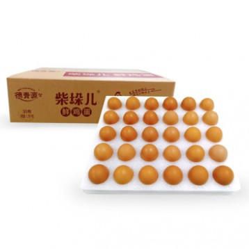 德青源【凑单5折】柴垛儿鲜鸡蛋 30枚 1.29kg