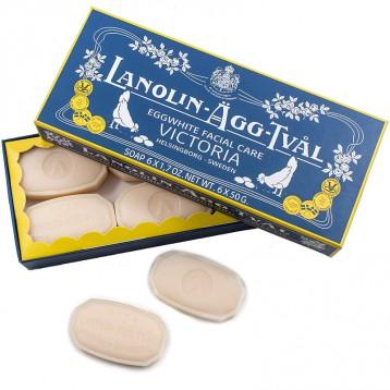 LocknLock乐扣乐扣 进口瑞典维多利来蛋清洁面美容皂 50g*6块