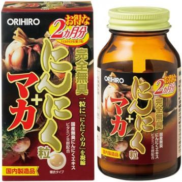 三管齊下補元氣:ORIHIRO 立喜樂 無臭大蒜素精華+瑪卡+維生素B群 180粒