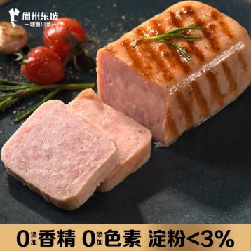 不添加淀粉和色素:眉州东坡午餐肉198g*4盒(原味/泡椒任选)