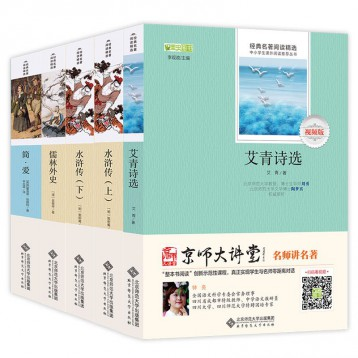 九年級上必讀書全4冊《水滸傳上下》《艾青詩選》《簡愛》《儒林外史》贈京師大講堂視頻解析