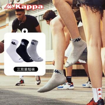 Kappa 背靠背 秋冬篮球袜运动棉袜3双组(男女款)