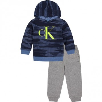 Calvin Klein 宝宝连帽慢跑套装2件套(0-24个月)