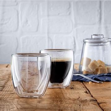 WMF 福騰寶【限時203.11】Kult 濃縮咖啡杯雙層玻璃杯80ml*6件套