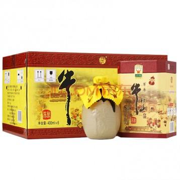 中华老字号:牛栏山百年陈酿三牛 浓香型52度高度白酒 400ml*6瓶(内含三个礼品袋)