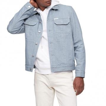 Calvin Klein 男式经典修身卡车司机夹克 牛仔夹克
