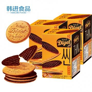 韓國進口 好麗友Orion 薄全麥巧克力餅干84gx2盒(18小包)