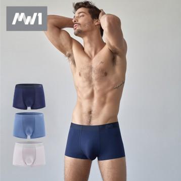 舒适无痕无感:曼妮芬 MW1莫代尔 男士平角裤3条组