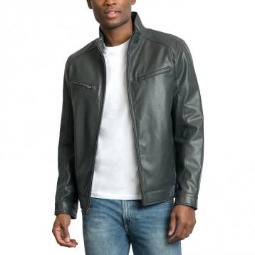 海淘限时4折:Michael Kors Men's Perforated Faux Leather Hipster Jacket