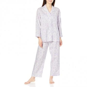 GUNZE 郡是 纯棉长袖长裤睡衣套装 女士