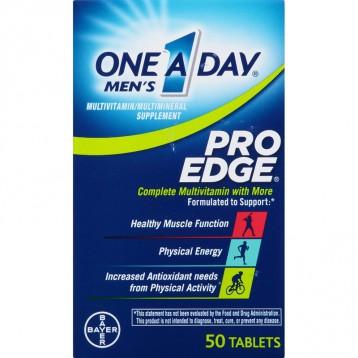 运动型男补养【0关税限时¥84.38元】拜耳 One A Day Pro Edge男士复合维生素 50粒
