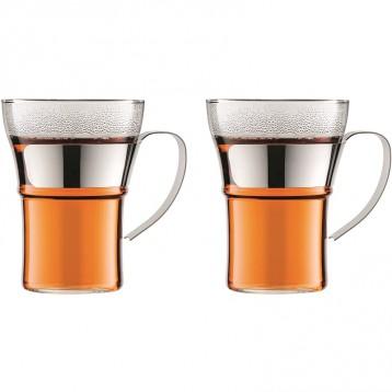 限時¥245.85元:BODUM ASSAM 玻璃咖啡杯茶杯套裝350ml*2件裝