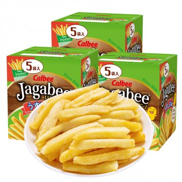 经典人气薯条:Calbee 卡乐比 Jagabee薯条三兄弟 80g*3盒