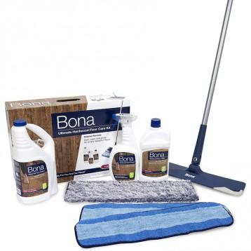 瑞典百年地板护理品牌:Bona 博纳 终极硬木地板 全套护理套装(无香)