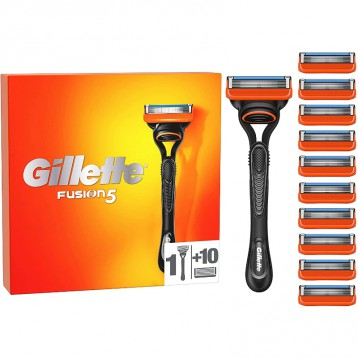 锋隐5套装【限时¥166.78元】Gillette 吉列 Fusion5 男士剃须刀(刀柄+11个剃须刀片)