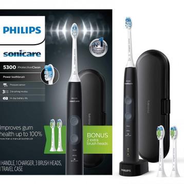 限时¥434.42元:飞利浦 Philips Sonicare ProtectiveClean 5300 可充电电动牙刷+2个额外刷头