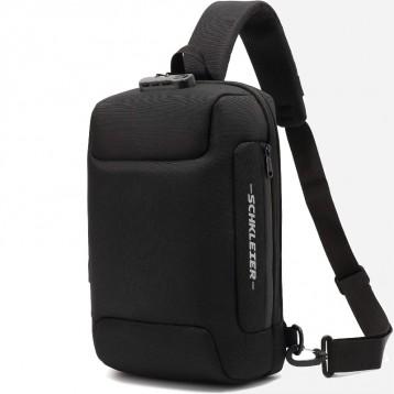 Schkleier【防水防盗带USB孔】大号斜挎包 笔记本电脑背包(多色可选)