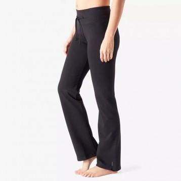 迪卡侬 女士基础健身直筒棉质长裤
