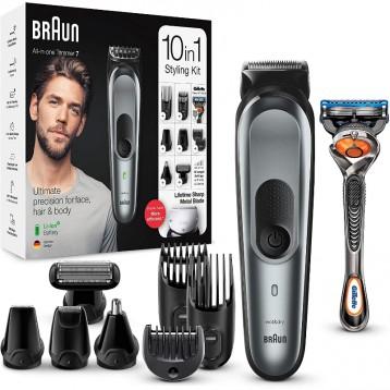 剪发剃须修毛发一机搞定:BRAUN 博朗 10合1多功能干湿毛发修剪器